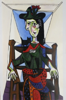 360 Dora Maar with Cat Oil Painting Reproduction by Pablo Picasso
