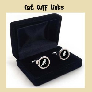 Christmas Cat Lovers Cat Cuff Links