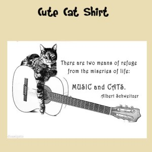 Christmas Cat Lovers Cats and Music Shirt