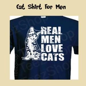 Christmas Cat LoversReal Men Love Cats Shirt