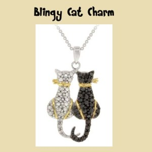 Christmas Cat Lovers Two Cat Charm