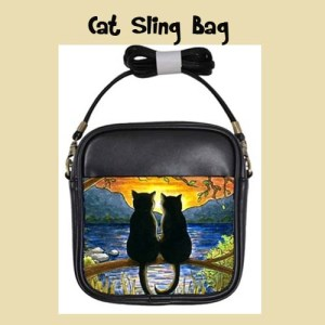 Christmas Cat Lovers Two Kitty Sling Bag