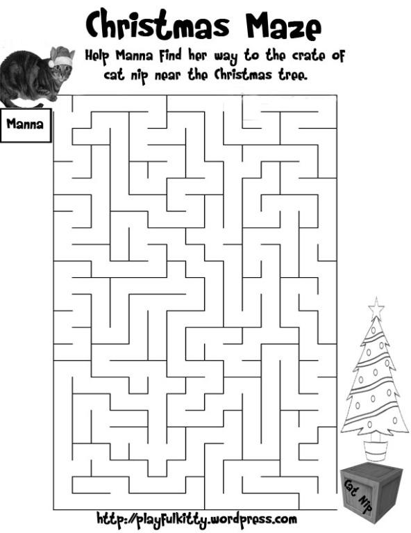 Christmas Kitty Maze