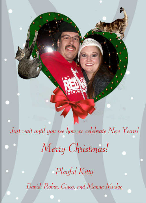 Christmas Celebration Inside of Christmas Card