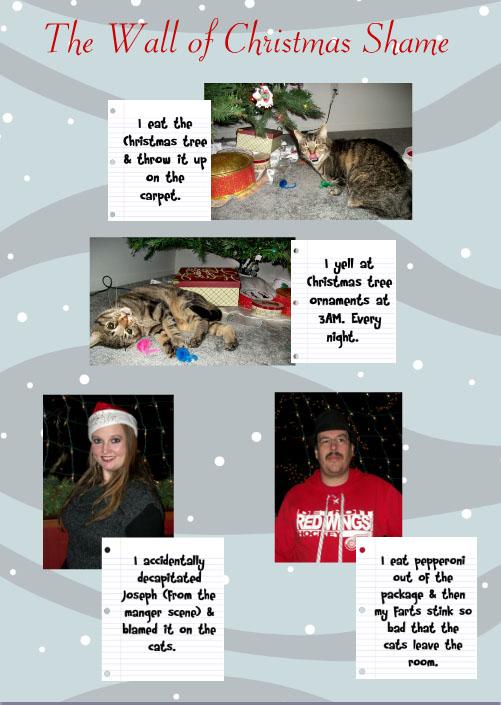 Christmas Celebration Outside of Christmas Card