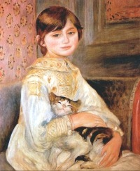 Cats in Art Renoir Julie Manet with Cat 1887